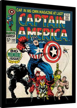 Zarámovaný plagát Captain America - Premiere