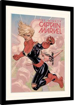 Zarámovaný plagát Captain Marvel - Flight