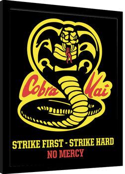 Zarámovaný plagát Cobra Kai - No Mercy