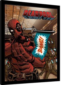 Zarámovaný plagát Deadpool - Bang