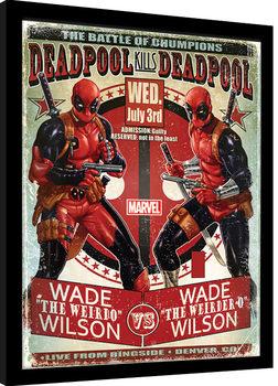 Zarámovaný plagát Deadpool - Wade vs Wade