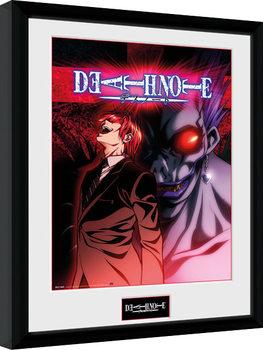 Zarámovaný plagát Death Note - Light & Ryuk
