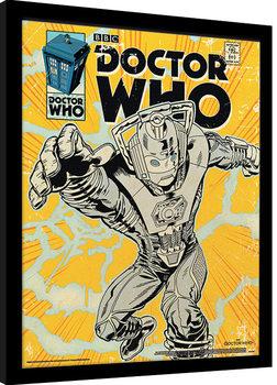 Zarámovaný plagát Doctor Who - Cyberman Comic
