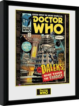 Zarámovaný plagát Doctor Who - Daleks Tardis Comic