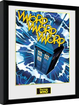 Zarámovaný plagát Doctor Who - Tardis Comic