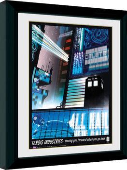 Zarámovaný plagát Doctor Who - Tardis Industries