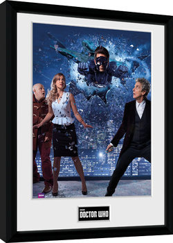Zarámovaný plagát Doctor Who - Xmas Iconic 2016