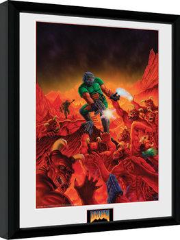 Zarámovaný plagát Doom - Classic Key Art
