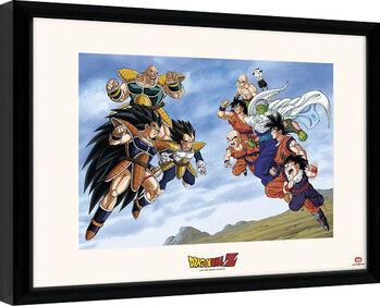 Zarámovaný plagát Dragon Ball - Battle Of Saiyans