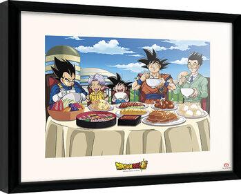Zarámovaný plagát Dragon Ball - Super Universe Feast