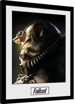 Zarámovaný plagát Fallout 76 - T51b