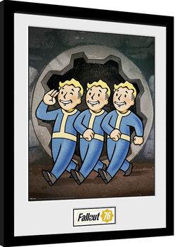 Zarámovaný plagát Fallout 76 - Vault Boys