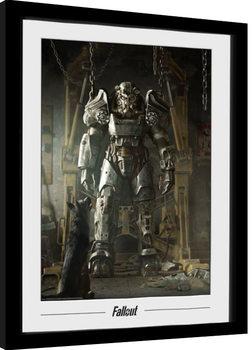 Zarámovaný plagát Fallout - Power Armour