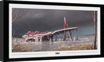 Zarámovaný plagát Fallout - Red Rocket
