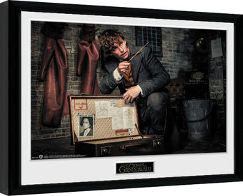 Zarámovaný plagát Fantastické zvery: Grindelwaldove zločiny - Newt Suitcase