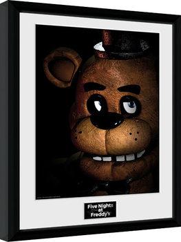 Zarámovaný plagát Five Nights at Freddys - Fazbear