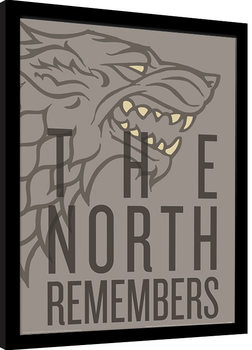 Zarámovaný plagát Game of Thrones - The North Remembers