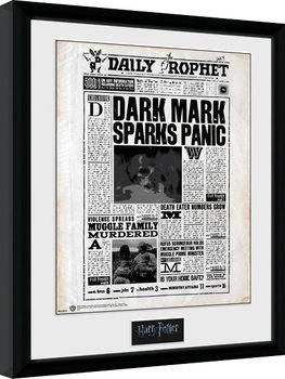 Zarámovaný plagát Harry Potter - Daily Prophet
