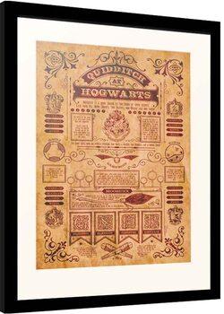 Zarámovaný plagát Harry Potter - Quidditch at Hogwarts