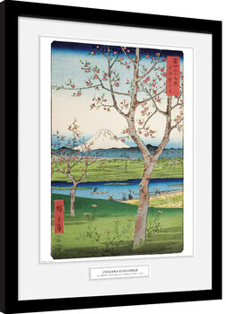 Zarámovaný plagát Hiroshige - The Outskirts of Koshigaya