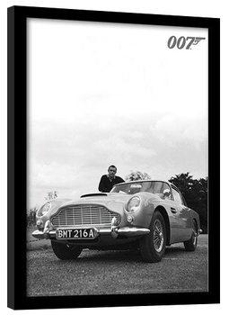 Zarámovaný plagát JAMES BOND 007 - connery b+w