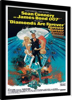 Zarámovaný plagát James Bond - Diamonds are Forever 2