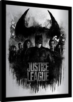 Zarámovaný plagát Justice League - Dark Horizon