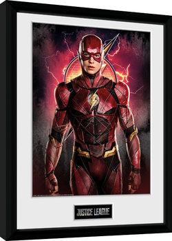 Zarámovaný plagát Justice League - Flash Solo