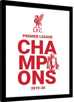 Zarámovaný plagát Liverpool FC - Champions 19/20