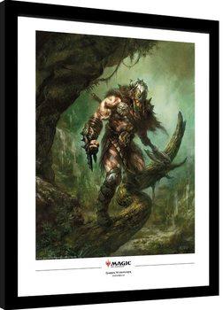 Zarámovaný plagát Magic The Gathering - Garruk Wildspeaker