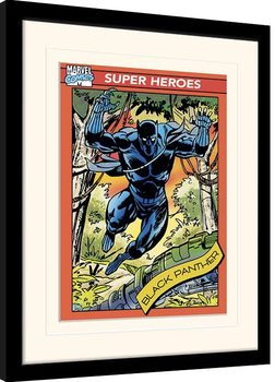 Zarámovaný plagát Marvel Comics - Black Panther Trading Card