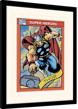 Zarámovaný plagát Marvel Comics - Thor Trading Card