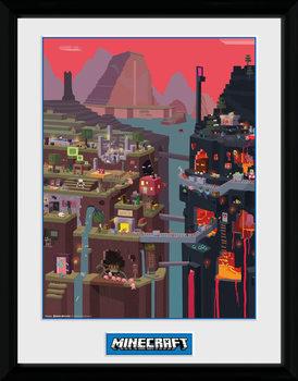 Zarámovaný plagát Minecraft - World