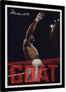 Zarámovaný plagát Muhammad Ali - GOAT