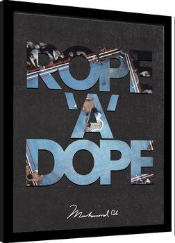 Zarámovaný plagát Muhammad Ali - Rope A Dope