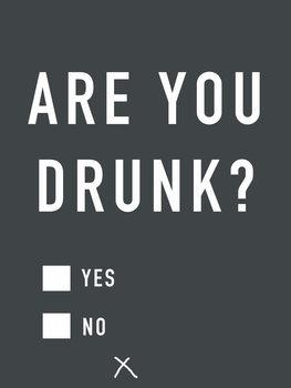 Obraz na plátně Are you drunk