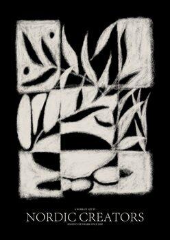 Obraz na plátně Black Pattern