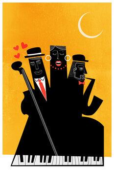 Obraz na plátně Casablanca Jazz YELLOW