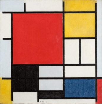Obraz na plátně Composition with large red plane