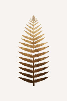 Obraz na plátně Golden leaf No.7