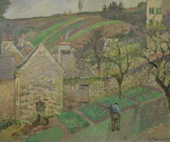 Obraz na plátně Hillside of the Hermitage, Pontoise, 1873