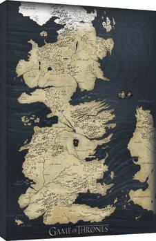 Obraz na plátně Hra o Trůny (Game of Thrones) - mapa