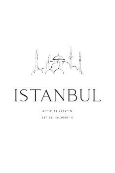 Obraz na plátně Istambul coordinates