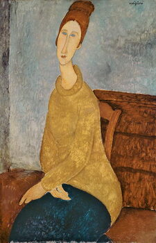 Obraz na plátně Jeanne Hebuterne in a Yellow Jumper