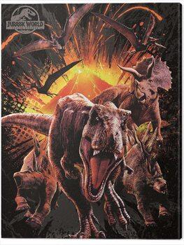 Obraz na plátně Jurassic World: Fallen Kingdom - Montage