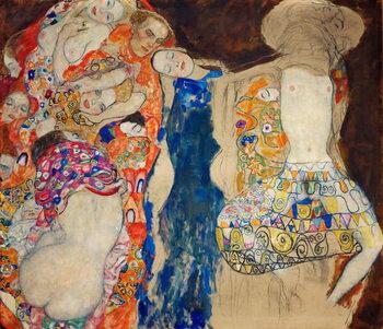 Obraz na plátně La Mariee - The Bride - Klimt