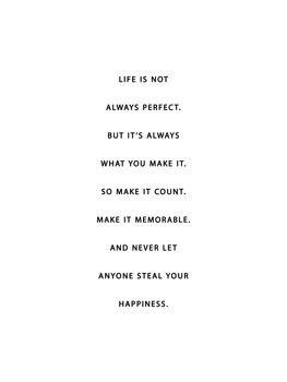 Obraz na plátně life is not always perfect