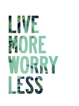 Obraz na plátně Live more worry less