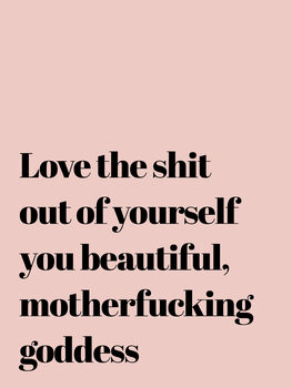 Obraz na plátně Love the shit out of yourself