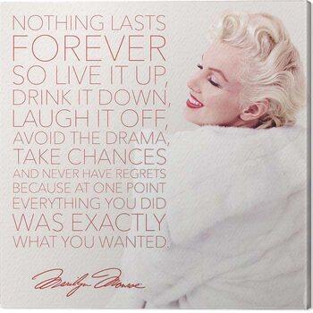 Obraz na plátně Marilyn Monroe - Nothing Lasts Forever